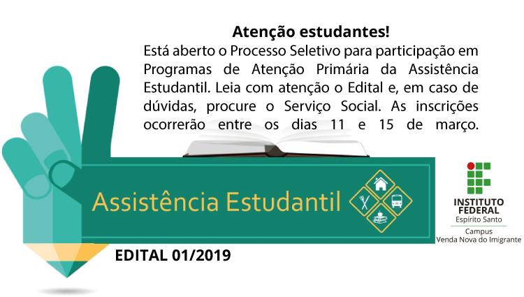 Edital 01/2019 - Assistência Estudantil