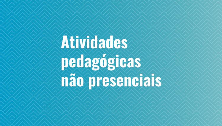 ORIENTAÇÕES SOBRE ATIVIDADES PEDAGÓGICAS NÃO PRESENCIAIS (APNPs)