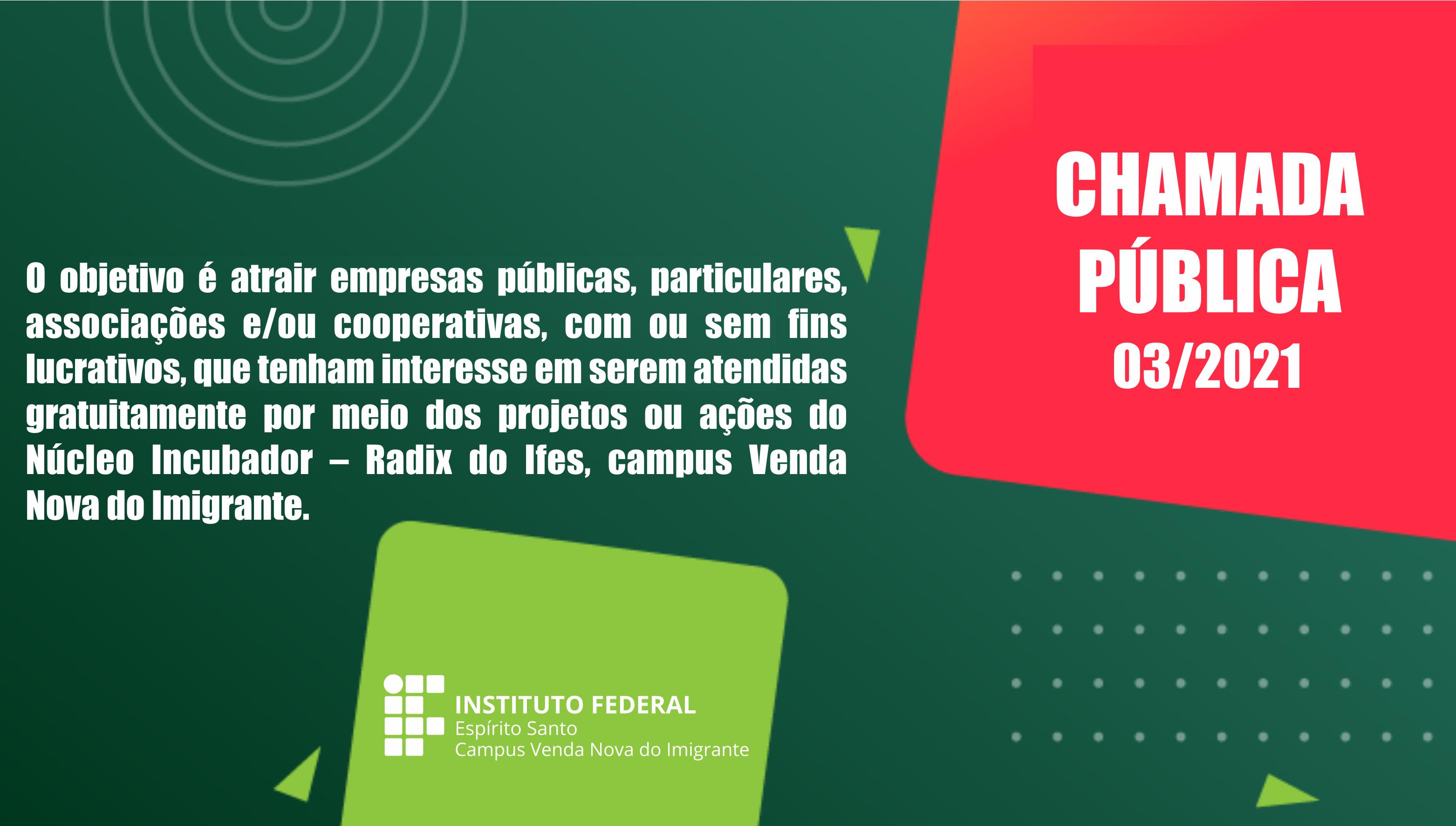 Chamada Pública nº 03/2021